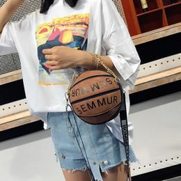 Jacquard Knit Fabric Canada - Designer-Luxury Handbags Women Bags Designer Round Purse Basketball Shape Shoulder Bags For Women 2019 Fashion Chains Crossbody Bags Sac