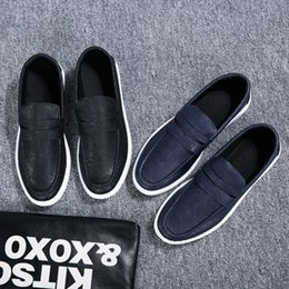navy cotton slip Canada - Low Cut Casual Shoes Men PU Loafer 50% Summer Faux Leather Footwear Male Winklepickers Fashion Derby Slip-on Shoes