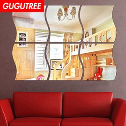 $enCountryForm.capitalKeyWord Australia - Decorate Home 3D geometry cartoon mirror art wall sticker decoration Decals mural painting Removable Decor Wallpaper G-303