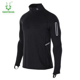 $enCountryForm.capitalKeyWord Australia - Vansydical Rashgard Running Jacket Reflective Sport Shirt Men Gym Shirt Dry Fit Men Running Shirts Compression Sportswear