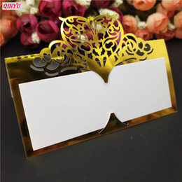 christmas card names 2019 - 10pcs Lot Hollow Luxury Table Name Place Cards Wedding Christmas Birthday Party Invite Cards Table Decoration Favor 5zsh