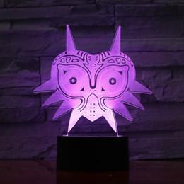 Figures Australia - Legend of Zelda FIGURE Majoras Mask 3D Lava Lamp Creative 7 Color Changing LED Night Light