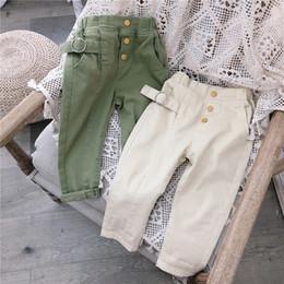 Korea girl legs online shopping - 2019 Korea style girls long pants autumn cotton fashion girls pants t