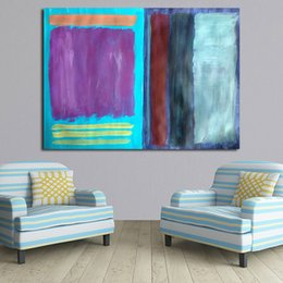 $enCountryForm.capitalKeyWord Australia - 1 Piece Rothko Paintings On Canvas Modern Wall Pictures For Living Room Home Decor No Frame Oil Painting