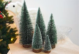 Snow Christmas Decor Australia - Mini Christmas Trees Bottle Brush Trees Tabletop Model Trees for Christmas Decoration DIY Room Decor Small Christmas Tree Stick with Snow