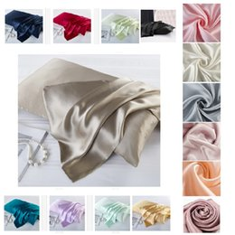 real beds NZ - 15 colors 100% Natural Mulberry Silk Pillowcase Zipper Pillowcases Real Silk Pillow Case Cover Satin For Home Hotel Bedding