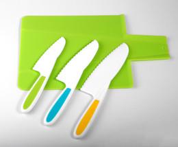 $enCountryForm.capitalKeyWord Australia - Little chef knife child knife set nylon safety fruit knife folding cutting board serrated blade color safety children kitchen cooking tools