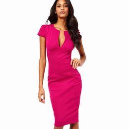 $enCountryForm.capitalKeyWord UK - Charming Summer Sexy Pencil Dress Celebrity Style Fashion Pockets Knee-length Bodycon Slim Business Sheath Party Dress E521 designer clothes