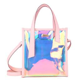 Race Candy UK - Fashion Women's Clear Transparent Shoulder Bag Jelly Candy Summer Beach Handbag(Pink)