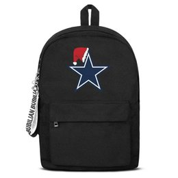 $enCountryForm.capitalKeyWord UK - Dallas Cowboys Christmas Free Shipping Women Men Canvas School Student Durable Travel Backpack Printing Backpack Designer
