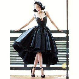 $enCountryForm.capitalKeyWord Australia - Sexy Little Black Cocktail Dresses Off Shoulder Party Dresses Short Front Long Back Backless Latest Gown Design High Low Prom Dresses