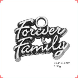 $enCountryForm.capitalKeyWord NZ - 30pcs Antique vintage tibetan silver word Forever Family charms metal dangle alloy pendants for necklace bracelet earring diy jewelry making