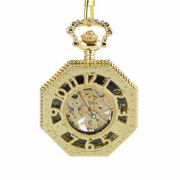 $enCountryForm.capitalKeyWord NZ - CKKU Jewelry Octagon Luxury Retro Mechanical Pocket Watches with Arabic Number with 15 Inch Chain for Men Women Gift LPW866