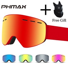589870ac594 ski goggles brands 2019 - PHMAX Brand 6 Colors Ski Goggles Double Layers  UV400 Anti-