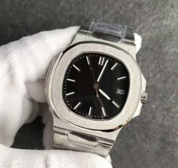 $enCountryForm.capitalKeyWord Australia - 2019 New Luxury Men's Watches Nautilus moon Automatic Mechanical Stainless Steel Transparent Back Black Dial Men Watches Male Wrist watch