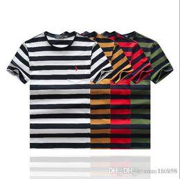 buy popular b320e bf12c Gestreiftes Männer Koreanisches T-shirt Online Großhandel ...