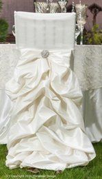 Champagne Chair Australia - Custom Made Taffeta Crystals Wedding Chair Covers Beautiful Cheap Wedding Party Decorations Vintage Chair Sashes Supplies C03