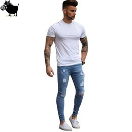 $enCountryForm.capitalKeyWord UK - 2019 Blue ripped Jeans for Men Super Stretch Male Pants Distressed Envmenst Brand Designer men Jeans skinny fit Style