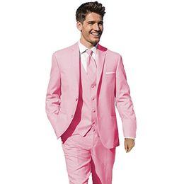 $enCountryForm.capitalKeyWord UK - Hot Selling Groom Tuxedos Pink Groomsmen Notch Lapel Best Man Suit Wedding Men Suits Bridegroom ( Jacket+Pants+Vest+Tie ) A361