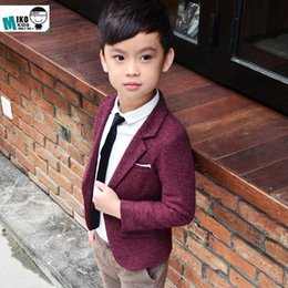 kids blazers UK - Jacket Clothing For Baby Boys Coat Spring Kids Outerwear Children Clothes High Quality Child Kid Boy Button Casual Blazer Jacket Cheap aGny#