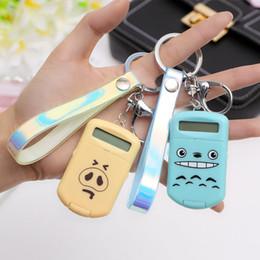 Stationery Australia - Cute Women Boy Girl Gift Jewelry PU Leather Keyring Plastic Digits Electronic Mini Animal Calculator Keychain Student Stationery