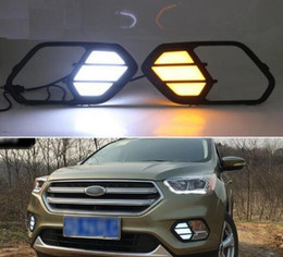 Running light foR foRd online shopping - For Ford Escape Kuga Turn Yellow Signal Relay Waterproof Car DRL Lamp V LED Daytime Running Light Daylight