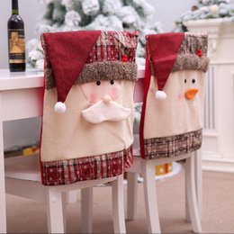 $enCountryForm.capitalKeyWord NZ - 1PCS Christmas Chair Cover Nonwoven Fabric Party Beautiful Christmas Seat Cover Santa Claus Lovely Cap Chair Drop Shipping
