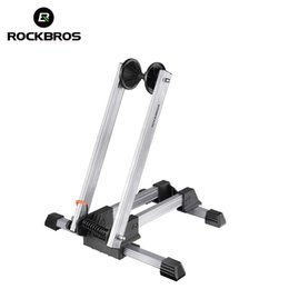 $enCountryForm.capitalKeyWord Australia - ROCKBROS Bicycle Parking Rack Floor Stand Bike Foldable Repair Support Frame Portable Double Lever Alloy MTB BIKE Park Stop Rack #107039