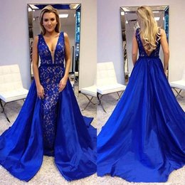 arts train Australia - Dubai Arabic Formal Evening Dresses With Detachable Train Applique Sequin Celebrity Gowns New Special Occasion Prom Party Wear