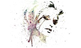 China Colourful Abstract Beautiful Womans Face wall decor Art Silk Print Poster 95848 cheap colourful landscape paintings suppliers