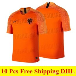 Holland football sHirt online shopping - 2018 newest Netherlands jersey  home orange ROBBEN soccer jersey top 84291c803