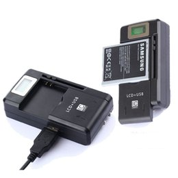 original mobile phone lcd wholesale 2020 - 100% Original SS-8 Universal Phone Battery Charger LCD Screen Display 5V 1.3A USB Output Mobile Phone AC Wall Charger