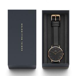 $enCountryForm.capitalKeyWord Canada - New Mens Watches Daniel Wellington Designer Watch Man's 40mm DW Luxury Wrist Watches Fashion Black Dial With Original Box Montre de luxe