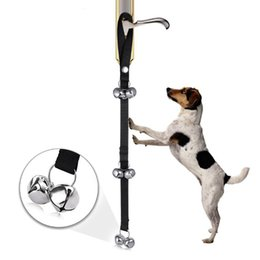Ingrosso Cane campanelli per Dog Training E Housebreaking Clicker campanello per porte 7 conte -Y102 Dog Training Obedience
