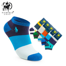 multi color socks Australia - 2019 Pier Polo New Fashion Casual Boat Color Cotton Short Men's Best Gift Socks Low Price Direct Sales 5 Pairs MX190719 MX190720