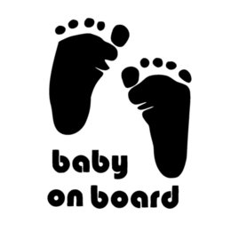 baby board sticker car Canada - 10 *15cm Baby On Board Foot Print Feet Car Bumper Rear Window Decal Art Sticker Picture Funny Humour