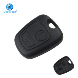 Blank Key Fobs For Replacement NZ - For Peugeot 107 206 207 306 307 407 Citroen Key Shell Front Car Key Fob Replacement 2 Button Remote Blank Cover Case