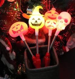 $enCountryForm.capitalKeyWord Australia - Cute Kids Halloween Pumpkin Light Hand Stick Skull light Bar KTV Gift light Rocking Stick Children's Toy Music Party Decorations LED Gadget