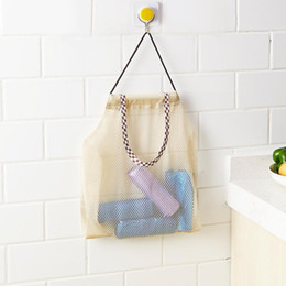 $enCountryForm.capitalKeyWord Australia - Mesh Bag Reusable Hanging Kitchen Fruit and Vegetable Storage Bags Mesh Storage Pouch Durable Wear-resisting Place-saving Bags DH0367