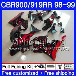 Cbr 919 Fairings Red Australia - Bodys For HONDA CBR 919RR CBR 900RR CBR919RR 1998 1999 278HM.46 CBR900RR Red CORONA light CBR 919 RR CBR900 RR CBR919 RR 98 99 Fairing kit