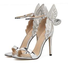 $enCountryForm.capitalKeyWord Australia - Hot Sale-Dreamy Butterfly Hot Pink One Strap Stiletto Heels Dress Sandals Super Sexy High Heels Women Shoes 3 Colors EU35 to 40