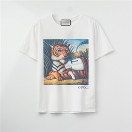 fashion for short girls NZ - 2020 Fashion Brand Designer T-Shirts For Girls Mens Tshirt Short Sleeves Shirts Womens Summer Tiger Print Tees Top Quality A1HW9 2031603V