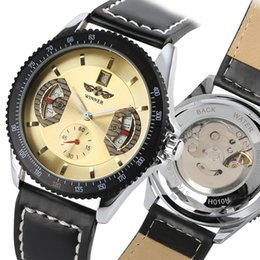 Gold Display Case Australia - Men Business Automatic Mechanical Watch, Fashion Gold Dial with Calendar Display Mechanical Watches for Teenagers, Stainless Steel Case and