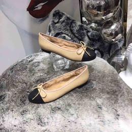 $enCountryForm.capitalKeyWord UK - 2019 Hot!Winter Luxury Ballet Flat-soled Shoes, Luxury Women's Flat-soled Ballet Shoes, Winter Rabbit Hair Ballet Shoes,size:35-40