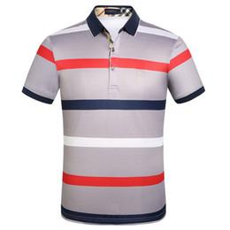 Mens Designer Polos Fashion Horses Printed Kurzarm T-Shirts Gestreifte Revers Herren Kleidung im Angebot