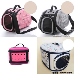 $enCountryForm.capitalKeyWord NZ - Pet Folding Cage Dog Cat Bag Collapsible Handbag EVA Outdoor Travel Portable Colors Mix Ventilation 42cz F1