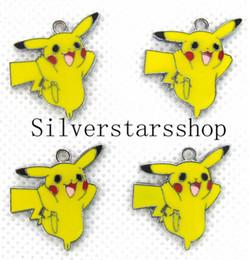 $enCountryForm.capitalKeyWord Australia - 100pcs Pikachu Metal Charms Pendants DIY Jewellery Making Crafts