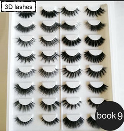 Wholesale Hair Labels Australia - Wholesale new arrival fashion 3d mink hair lashes 3d silk hair eyelashes with private label High quality with lower price 16 pairs eyelashes