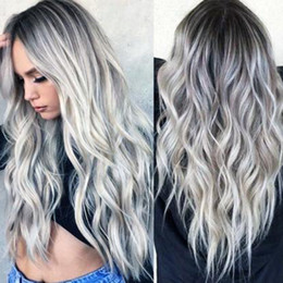 """Long Hair Wave Style Australia - Hot Sale! 26"""" Fashion Long Hair Wig Natural Wave Cosplay Wig Synthetic Full Wig Sexy Ombre Color Hair Style Role-playing Christmas Wigs"""