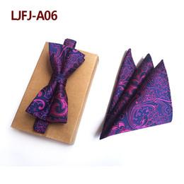 $enCountryForm.capitalKeyWord Australia - Silk Pink Polka Dot Tie Bow Tie Set Necktie Bow Tie Hanky Party Gift for Dad